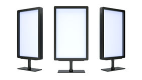 Blank black advertising billboard. S  on white background. 3D rendering Royalty Free Stock Photos
