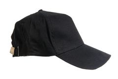 Blank black Baseball Cap. On white ground Royalty Free Stock Image