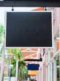 Blank black billboard with copy space for your text message royalty free stock photos