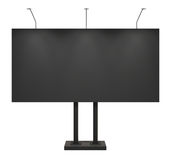 Blank black billboard, front, isolated on white. With clipping path Stock Photography