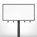 Blank black billboard, vector illustration. Stock Images