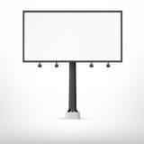 Blank black billboard, vector illustration. Stock Image