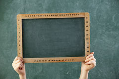 Blank black board Royalty Free Stock Images