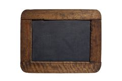 Blank black board. Blank vintage black board on white background Stock Photography