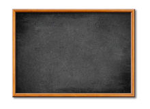 Blank black board with wooden frame royalty free stock photography