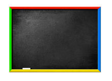 Blank black board with wooden frame Royalty Free Stock Image