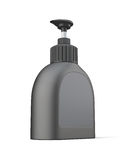 Blank black bottle for detergent Stock Image