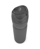 Blank black bottle of spray close-up Royalty Free Stock Photography