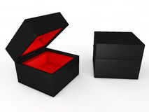 Blank black boxes Stock Photography