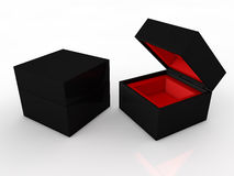 Blank black boxes Stock Images