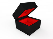 Blank black boxes Royalty Free Stock Photography