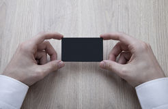 Blank Black Business Card Royalty Free Stock Photo