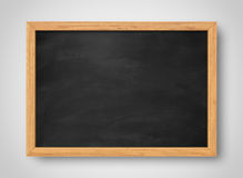 Blank black chalkboard. Background and texture. Stock Image