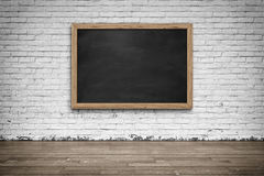 Blank black chalkboard. Background and texture. Stock Photos