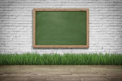 Blank black chalkboard. Background and texture. Royalty Free Stock Photography