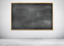 Blank Black Chalkboard on a Gray Background Stock Photos