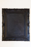 Blank Black Chalkboard Royalty Free Stock Photography
