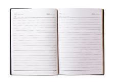 Blank black cover notebook Royalty Free Stock Images