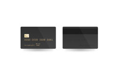 Blank black credit card mockup isolated, clipping path, Stock Image