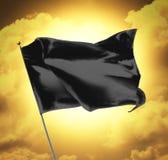 Blank Black Flag Royalty Free Stock Photos