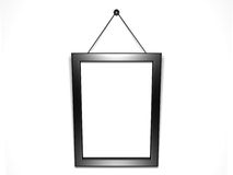 Blank black frame for pictures or photos on wall Stock Photography