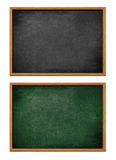 Blank black and green boards set isolated Stock Image