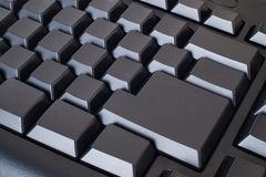 Blank black keyboard Stock Images