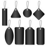 Blank black labels style  set. Blank black labels style set  file Stock Images