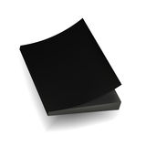 Blank Black Mock Up Cover Of Notebook, Magazine, Book, Booklet, Brochure. Illustration Isolated . Template Ready For Your Design. Stock Photography