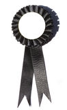 Blank Black Ribbon. Nice blank prize ribbon for you to add whatever you would like Royalty Free Stock Images