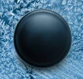 Blank black round badge. On background royalty free stock photo