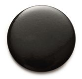 Blank black round badge. On white background Stock Images