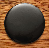 Blank black round badge. On white background royalty free stock photo