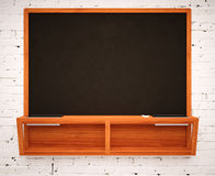 Blank Black School Chalk Board Stock Image
