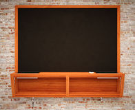 Blank Black School Chalk Board Royalty Free Stock Images