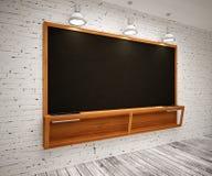 Blank Black School Chalk Board Royalty Free Stock Images