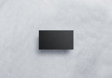 Blank black visit card design mockup, grey craft paper Royalty Free Stock Photo