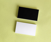 Blank black and white business cards Stock Photography