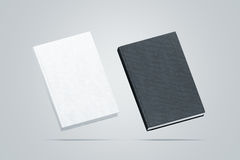 Blank black and white hardcover books mock up set, royalty free stock photo