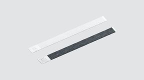 Blank black and white paper wristband mockup Stock Image