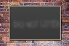 Blank blackboard Stock Photography