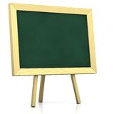 Blank blackboard. 3d rendering/illustration of a blank blackboard Stock Images