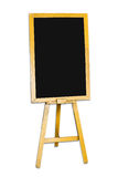 Blank blackboard. Isolated on white Stock Images