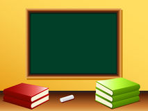 Blank blackboard and books Royalty Free Stock Photography