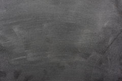 Blank blackboard with chalk dust and eraser marks Stock Photo