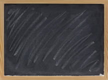 Blank blackboard with chalk smudges Royalty Free Stock Photos
