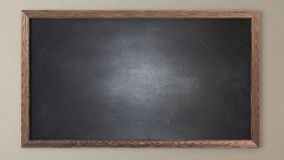 Blank blackboard. 3D design and rendering for your project Stock Images