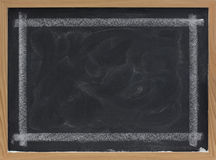 Blank blackboard with eraser smudges Stock Photography