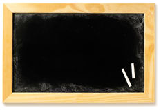 Blank blackboard in a frame with chalk Stock Photography