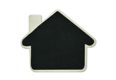 Blank blackboard house shape Royalty Free Stock Image